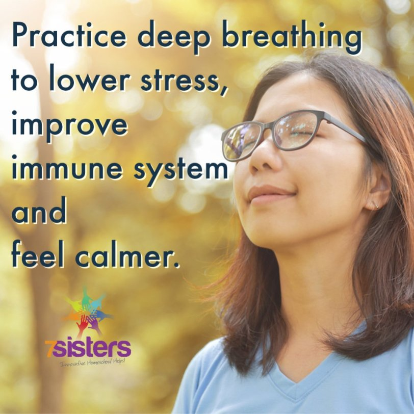 Teach your teen to practice deep breathing to enhance mood, calmness and improve immune system.
