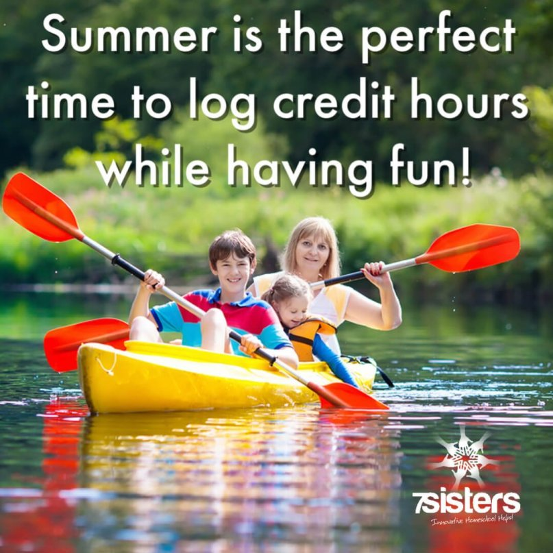 Summer is the perfect time to log credit hours while having fun! Build a good homeschool transcript while enjoying the summer.