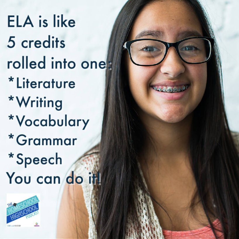 All credits are not created equal. We know it's not fair that English/Language Arts is like five credits rolled into one credit: Literature Writing Vocabulary Grammar Speech/Public Speaking