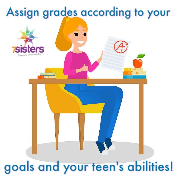 Assign grades according to your goals and your teen's abilities.