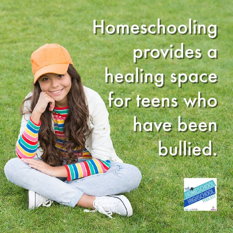 Homeschooling provides a healing space for teens who have been bullied.