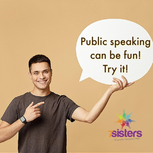 Public Speaking can be fun! Try it with 7SistersHomeschool's Speech I