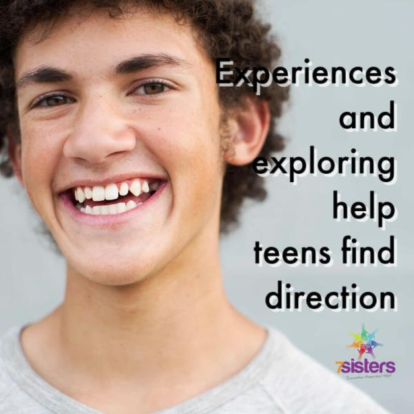 Experiences and exploring help teens find direction. 7SistersHomeschool.com