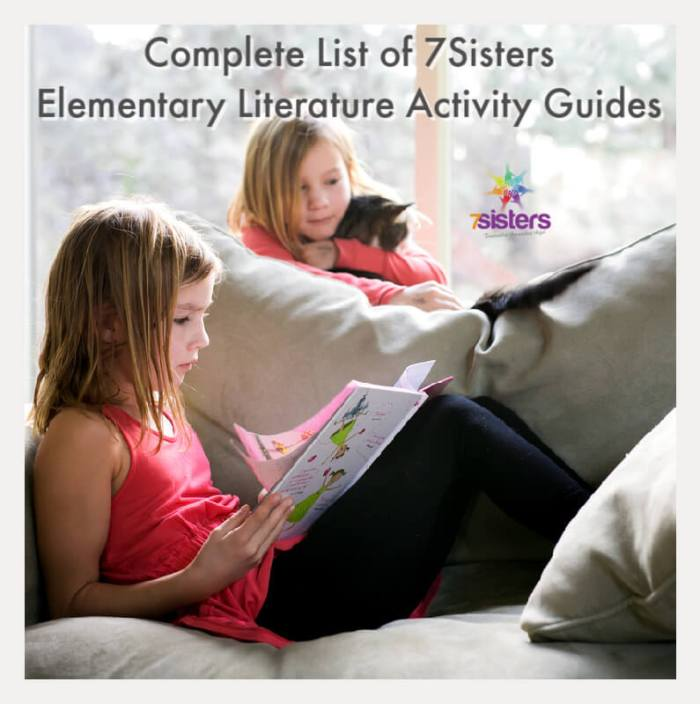 Complete List of 7Sisters Elementary Literature Activity Guides