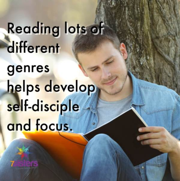 Reading lots of different genres helps develop self-discipline and focus.