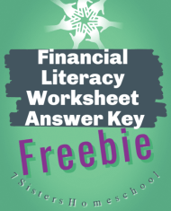 financial literacy worksheet answer key