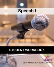 Speech I Workbook