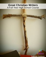Great Christian Writers: A Full-Year High School Literature Course. 7SistersHomeschool.com