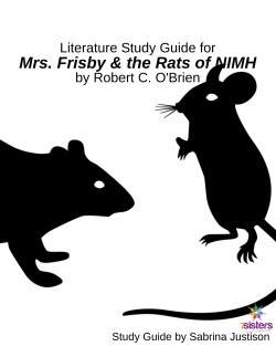 Mrs Frisby and the Rats of NIMH Study Guide