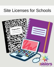 site license for 7Sisters Homeschool