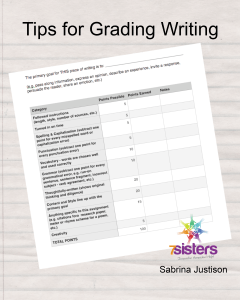 Tips for Grading Writing freebie