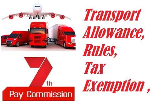 Transport Allowance Rules Tax exemption 1