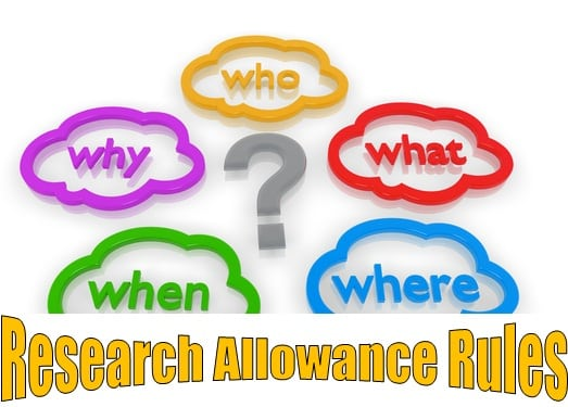 Research Allowance Rules Eligibility Income Tax Exemption Limit