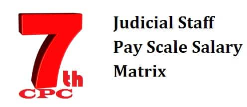Judicial Staff Pay Scale Salary Matrix Allowance After 7th Pay Commission