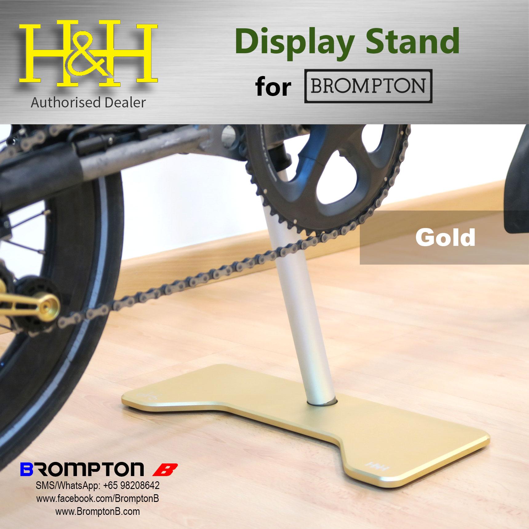 H/&H Aluminum Brompton NoKICK Show Stand Platform