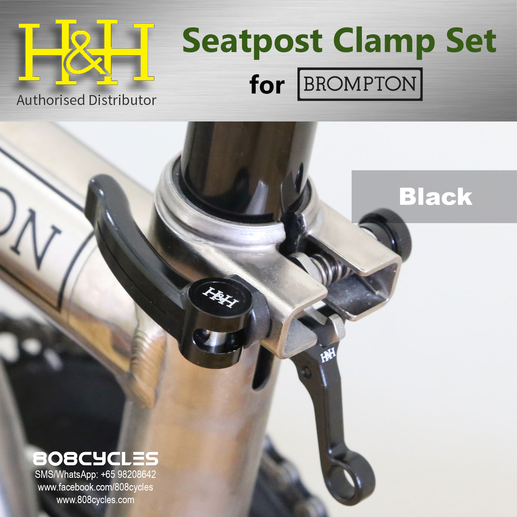 Multi-S Brompton Seatpost Clamp with Rear Frame Hook