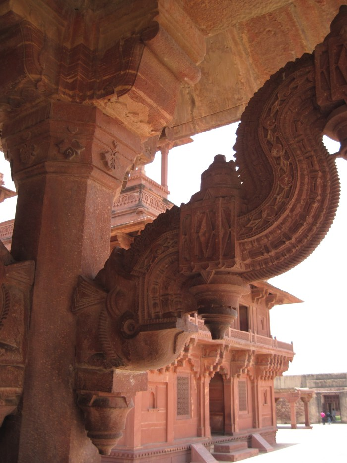 The carving on the sandstone is intricate and incredible.