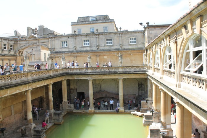 The main outdoor bath in the Roman baths