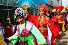 Dancers at a Temple Fair