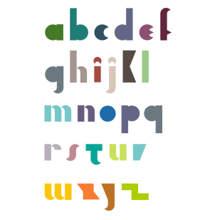 Type Design: Resist (Lowercase)