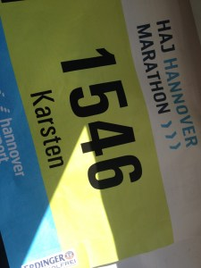 Startnummer des 25. HAJ Marathon Hannover 2015