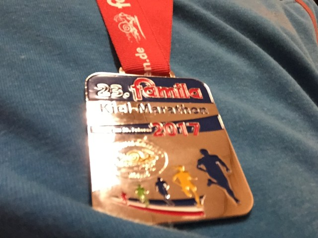 Medaille des Famila Kiel-Marathons 2017