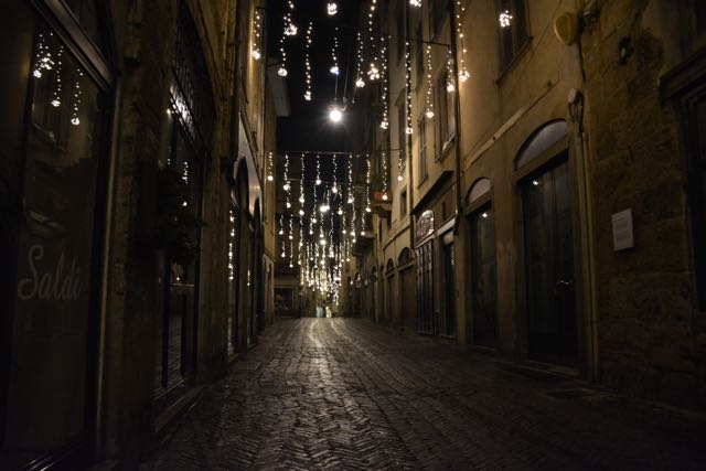 Die Via Gombito in der Cittá Alta von Bergamo