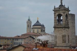 Blick von der Rocca di Bergamo