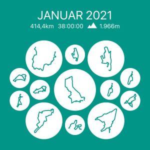 Mein Läufe im Januar 2021