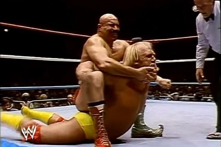 Hulk Hogan wins title Iron Sheik