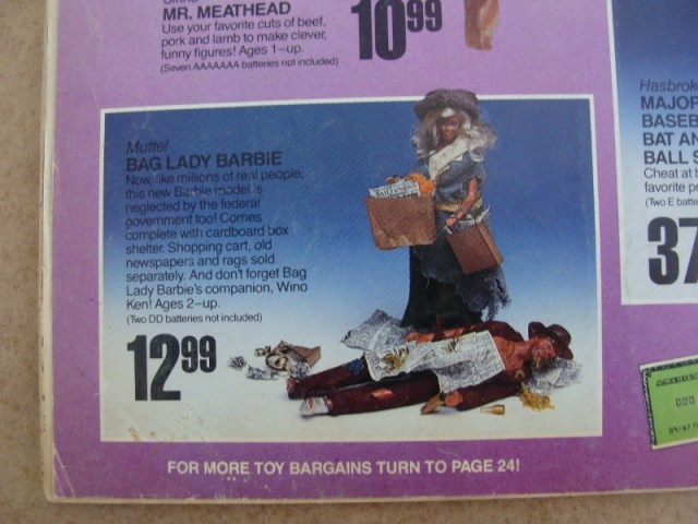 Mad Magazine Bag Lady Barbie