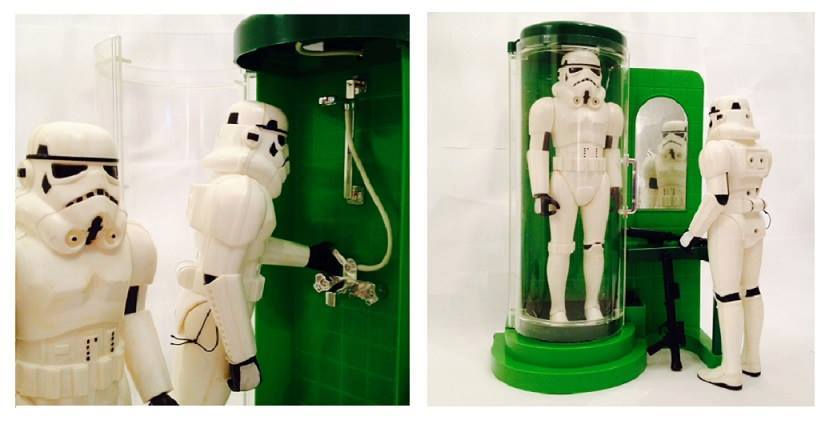 Stormtroopers taking a shower