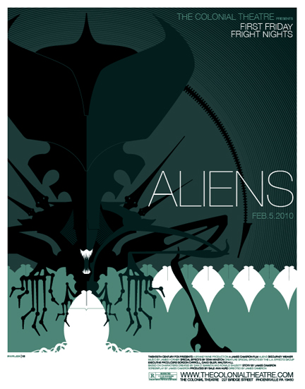 Aliens Movie Poster Custom