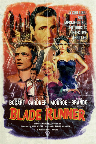 Blade Runner old school movie poster