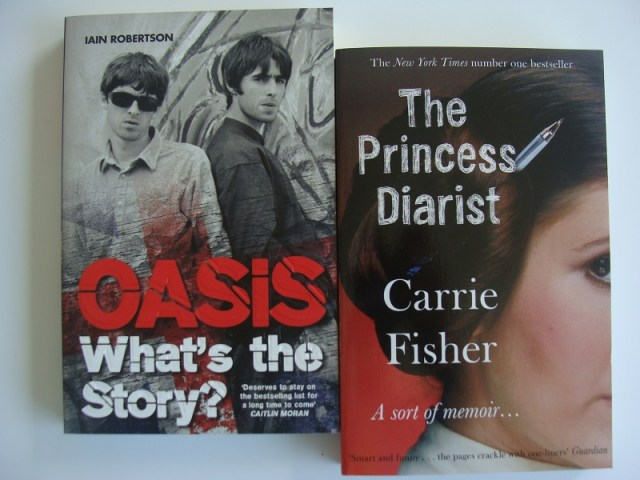 Oasis What's The Story Carrie Fisher The Princess Diarist leesstapel