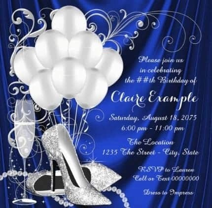 80th birthday invitations 30 best