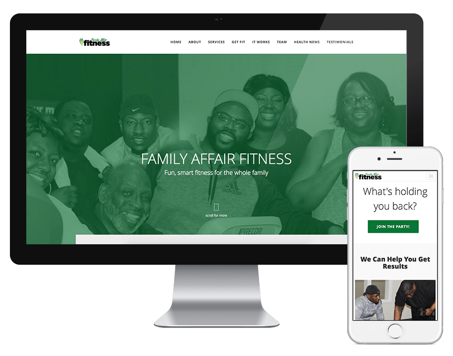 Family Affair Fitness – Website Launch