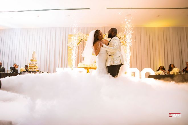 Dancing on the Clouds and Sparkulars Sparklers Moon Palace Jamaica Wedding