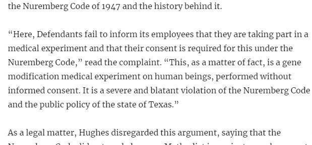 Judge Rips 'Reprehensible' Comparison Between Nazi Experiments and Hospital COVID-19 Vaccine Requirement