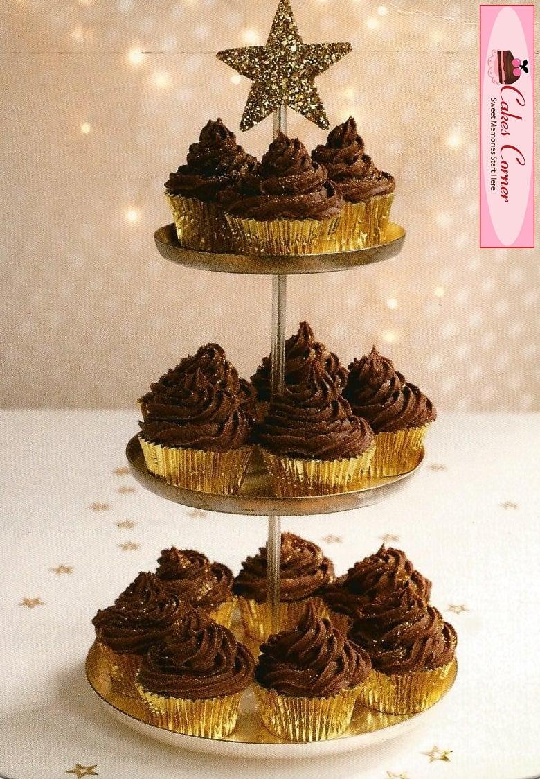 Chocolate Christmas Cupcakes