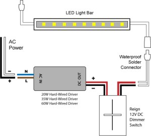 88Light  Reign 12V LED Dimmer Switch wiring diagrams