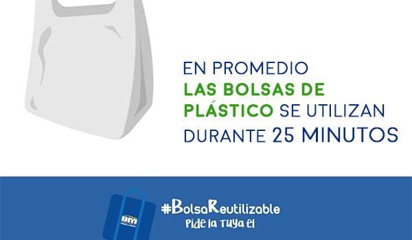 Supermercados BM donará 5 mil bolsas reutilizables