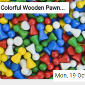 Colorful Wooden Pawns Jigsaw