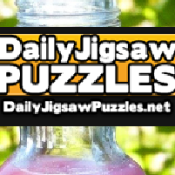 Colorful Juice Bottles Jigsaw Puzzle Game