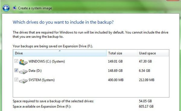 Toshiba Backup and Restore partition selection