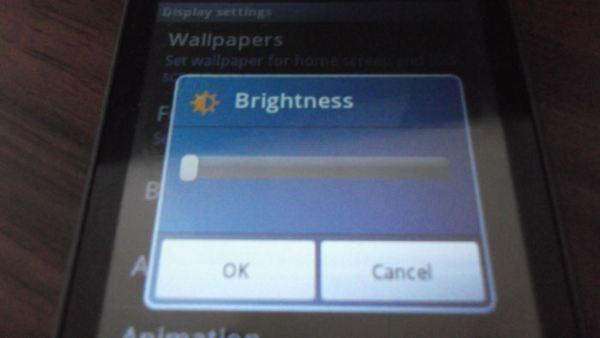 Samsung Galaxy Mini GT-S5570 Screen Brightness