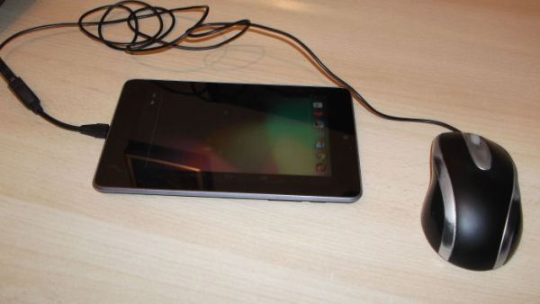 USB mouse connected to Nexus 7