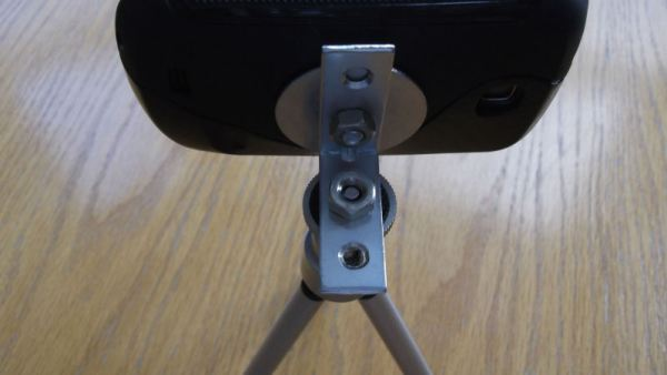 Rear view of a homemade GT-S5570 Tripod