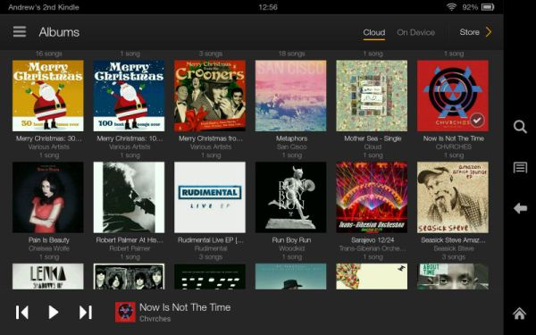 "Amazon Kindle Fire HDX 7"" Tablet Music Screenshot"