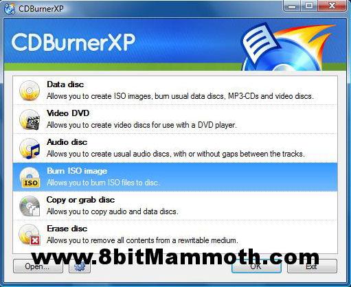 Burn XBMC ISO Image